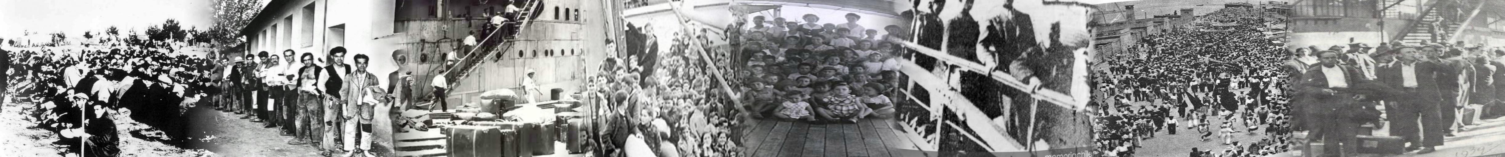 Escenas del exilio desde los campos franceses a México y Chile.